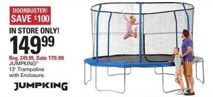 Shopko Black Friday: JumpKing 13' Trampoline w/ Enclosure for $149.99