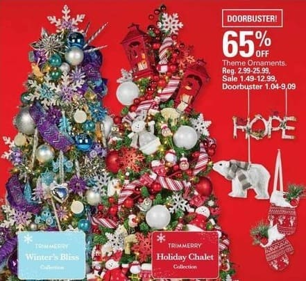 Shopko Black Friday: Theme Ornaments - 65% Off