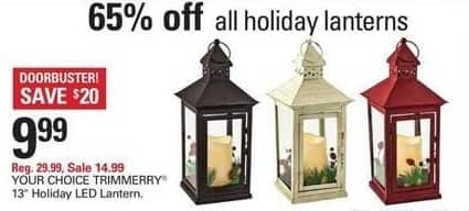 "Shopko Black Friday: TrimMerry 13"" Holiday LED Lantern for $9.99"