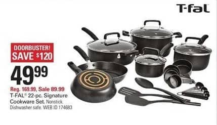 Shopko Black Friday: T-Fal 22-pc Signature Nonstick Cookware Set for $49.99