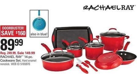 Shopko Black Friday: Rachael Ray 14-pc Hard Enamel Nonstick Cookware Set for $89.99