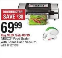 Shopko Black Friday: Nesco Food Sealer w/ Bonus Hand Vacuum for $69.99