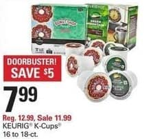 Shopko Black Friday: Keurig 16 to 18-ct K-Cups for $7.99