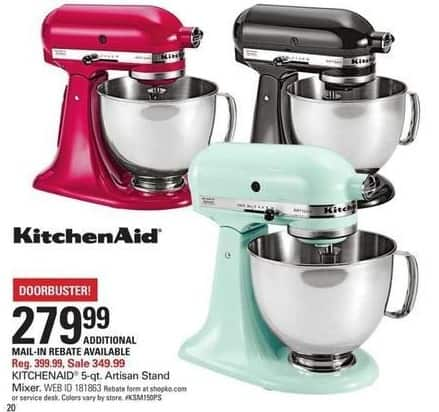 Shopko Black Friday: Kitchenaid 5-qt Artisan Stand Mixer for $279.99