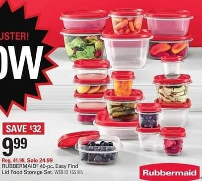 Shopko Black Friday: Rubbermaid 40-pc Easy Find Lid Food Storage Set for $9.99