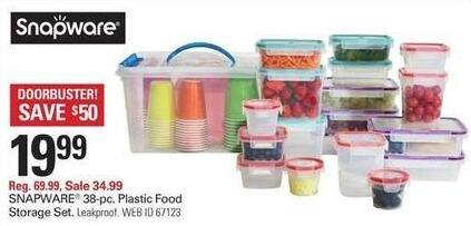 Shopko Black Friday: Snapware 38-pc Plastic Food Storage Set for $19.99