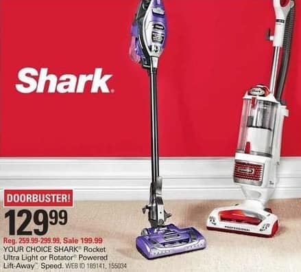 Shopko Black Friday: Shark Rotator NV681 Powered Lift Away Upright Vacuum Cleaner for $129.99