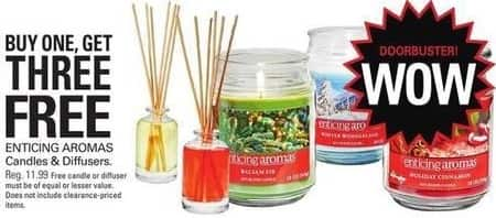 Shopko Black Friday: Enticing Aromas Candles and Diffusers - B3G1 Free