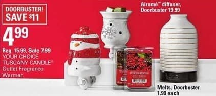 Shopko Black Friday: Tuscany Candle Outlet Fragrance Warmer for $4.99
