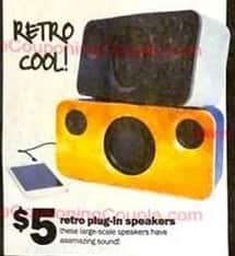 Five Below Black Friday: Retro Plug-in Speakers for $5.00