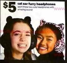 Five Below Black Friday: Cat Ear Furry Headphones for $5.00