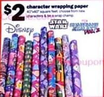 Five Below Black Friday: Character Wrapping Paper for $2.00