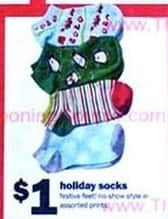 Five Below Black Friday: Holiday Socks for $1.00