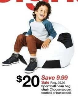 Target Black Friday: Sport Ball Bean Bag Chair For $20.00   Slickdeals.net
