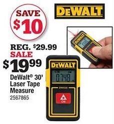 Ace Hardware Black Friday: DeWalt 30' Laser Tape Measure for $19.99