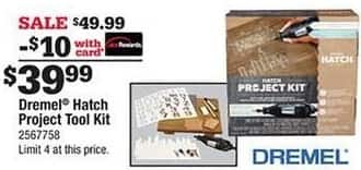 Ace Hardware Black Friday: Dremel Hatch Project Tool Kit, w/Card for $39.99