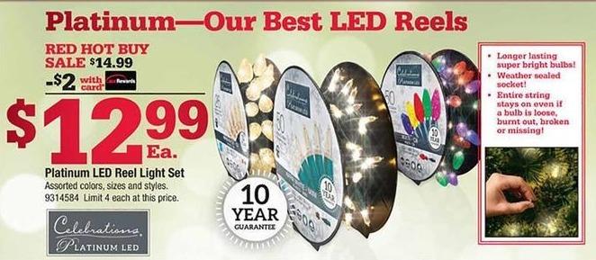 Ace Hardware Black Friday: Celebrations Platinum LED Reel Light Set w/ Card for $12.99