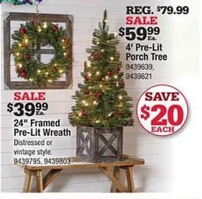 ace hardware black friday 4 pre lit porch tree for 5999
