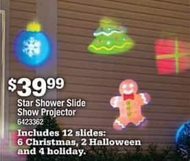 Ace Hardware Black Friday: Star Shower Slide Show Projector for $39.99