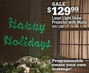 Ace Hardware Black Friday: Laser Light Show Projector w/ Music for $129.99