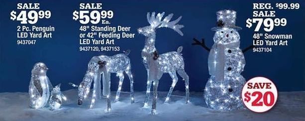"Ace Hardware Black Friday: 48"" Standing Deer or 42"" Feeding Deer LED Yard Art for $59.99"