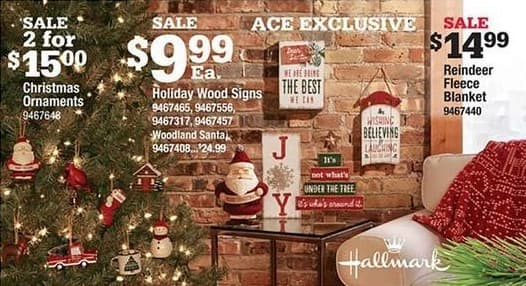Ace Hardware Black Friday: Hallmark Reindeer Fleece Blanket for $14.99