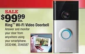 Ace Hardware Black Friday: Ring Wi-Fi Video Doorbell for $99.99