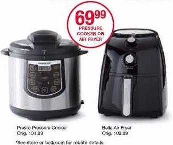 Belk Black Friday: Presto Pressure Cooker for $69.99