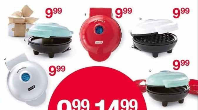 Belk Black Friday: Dash Minis: Waffle Maker, Griddle & More for $9.99