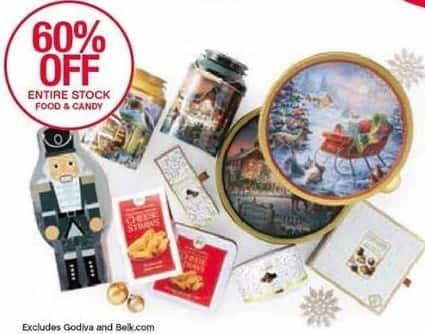 Belk Black Friday: Entire Stock Food and Candy - 60% Off