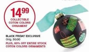 Belk Black Friday: Collectible Coton Colors Ornament for $14.99