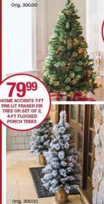 Belk Black Friday: Home Accents 7-ft Pre-Lit Frasier Fir Christmas Tree for $79.99