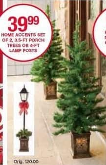 Belk Black Friday: Home Accents 3.5-ft Porch Trees, Set of 2 for $39.99