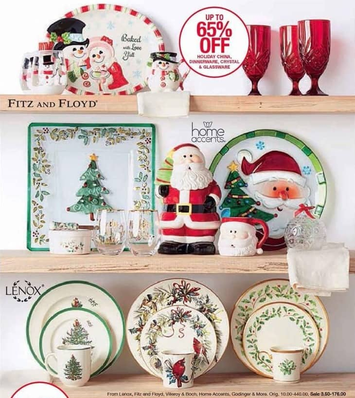 Belk Black Friday: Holiday China, Dinnerware, and Glassware: Lenox, Fitz and Floyd, Villeroy & Boch, Home Accents, Godinger & More - Up to 65% Off
