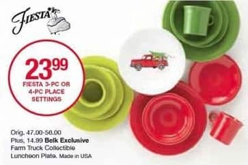 Belk Black Friday: Fiesta Farm Truck Collectible Luncheon Plate for $14.99