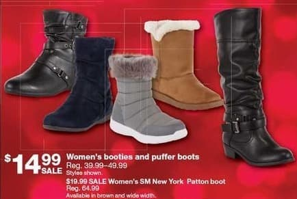 Sears Black Friday: SM New York Women's Patton Boot for $19.99
