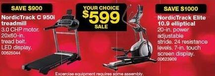 Sears Black Friday: NordicTrack C 950i Treadmill for $599.00