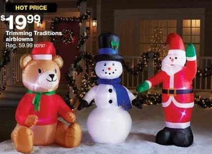 Sears Black Friday: Trimming Traditions Airblown Decorations for $19.99