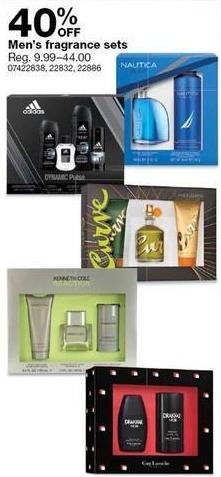 Sears Black Friday: Men's Fragrance Sets - 40% Off