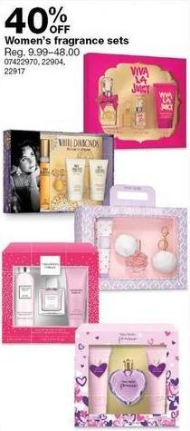Sears Black Friday: Women's Fragrance Sets - 40% Off