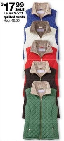 Sears Black Friday: Laura Scott Quilted Vests for $17.99