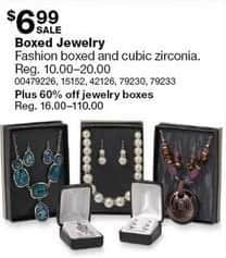 Sears Black Friday: Fashion and Cubic Zirconia Boxed Jewelry for $6.99