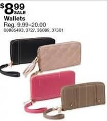Sears Black Friday: Women's Wallets for $8.99