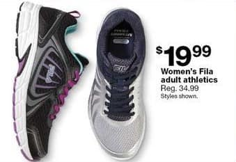 Sears Black Friday: Fila Women's Athletic Shoes, Select Styles for $19.99