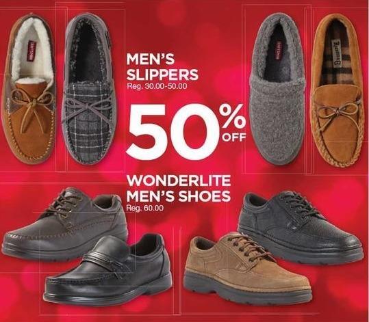 Sears Black Friday: Men's Slippers - 50% Off