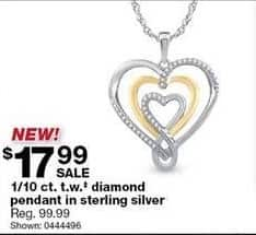 Sears Black Friday: 1/10-ct T.W. Diamond Pendant in Sterling Silver for $17.99