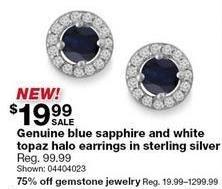 Sears Black Friday: Gemstone Jewelry - 75% Off