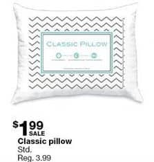 Sears Black Friday: Classic Standard Pillow for $1.99