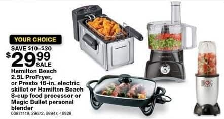Sears Black Friday: Hamilton Beach 2.5L ProFryer for $29.99