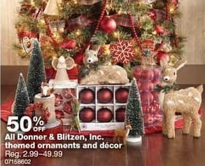 Sears Black Friday: All Donner & Blitzen, Inc Themed Ornaments and Decor - 50% Off